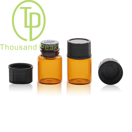 TP-1-08 5ml棕色玻璃瓶配黑色塑料盖