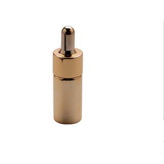 TP-2-1444 全身电镀 电镀胶头 玫瑰金化妆品滴管瓶