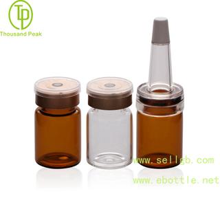 TP-2-03 5ml 透明棕色 精华素瓶配进口材质喇叭头