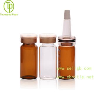 TP-2-05 10ml 透明棕色 精华素瓶配进口材质喇叭头